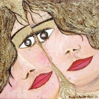 2004-twins-mixed-media-on-canvas-40x40cm